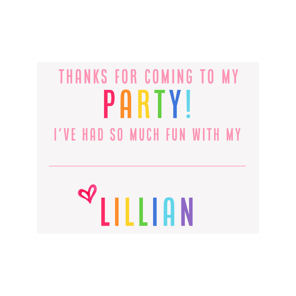 Party Stationery- Pink