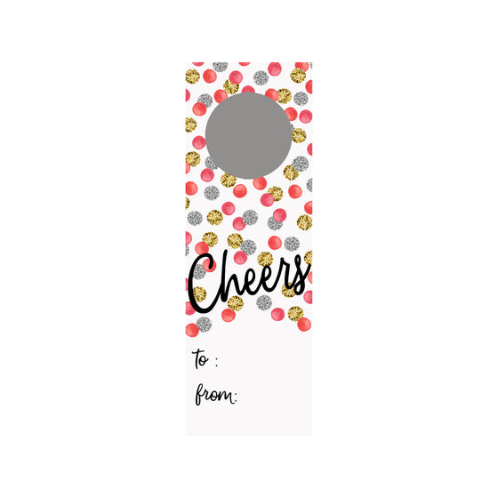 Glitter Dots Wine Tag
