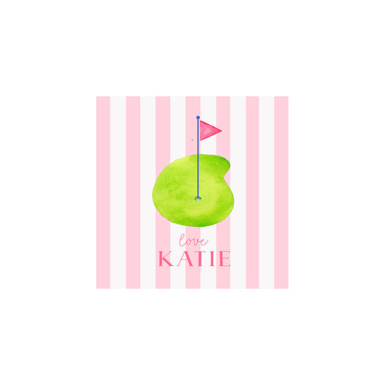 Junior Golf Gift Tags & Stickers- Pink