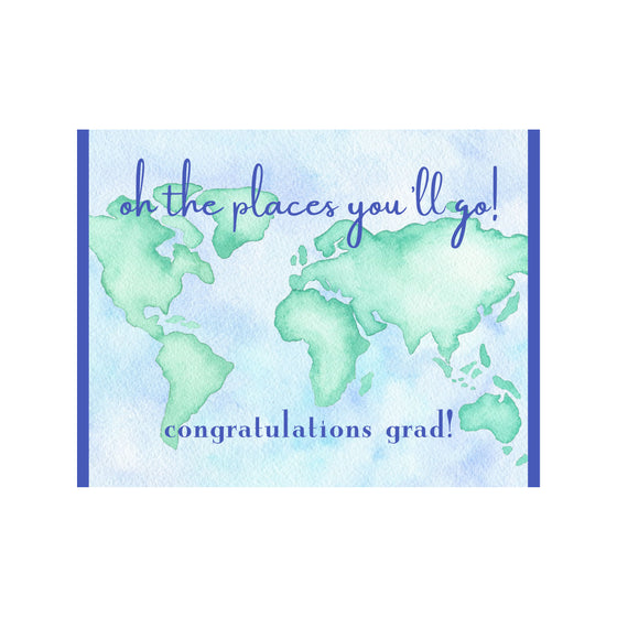 """Oh The Places You'll Go"" Graduation Card"