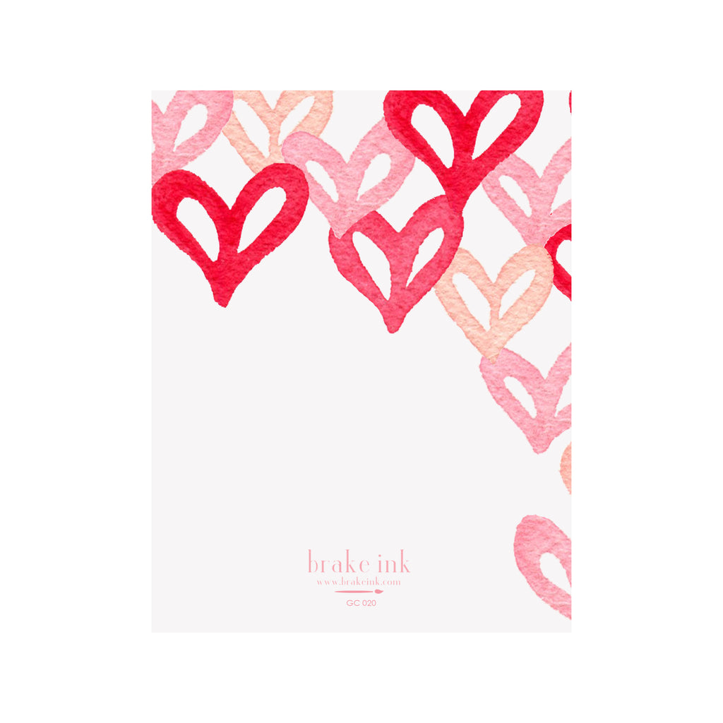 Graffiti Hearts Card