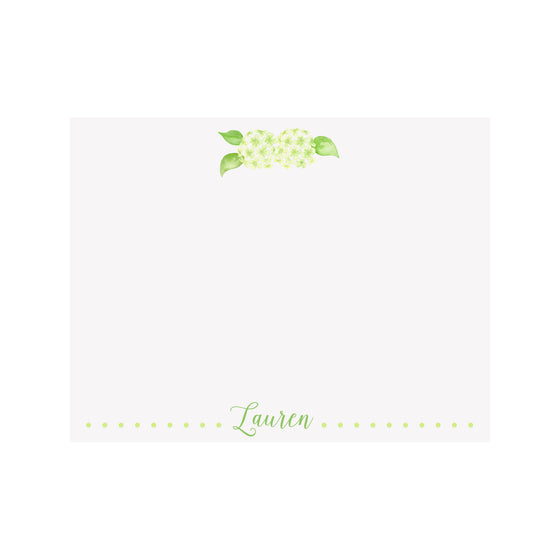Hydrangea Green Stationery