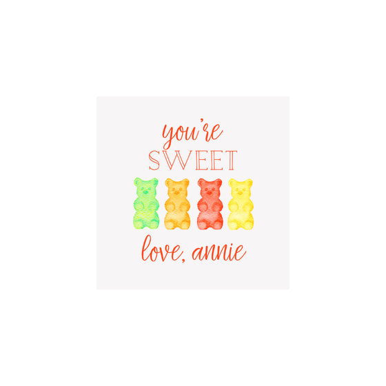 Gummy Bears Gift Tags & Stickers
