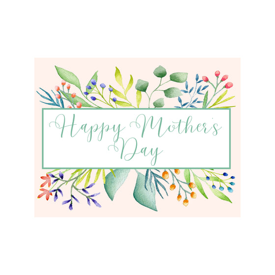 Foliage Mother's Day Card