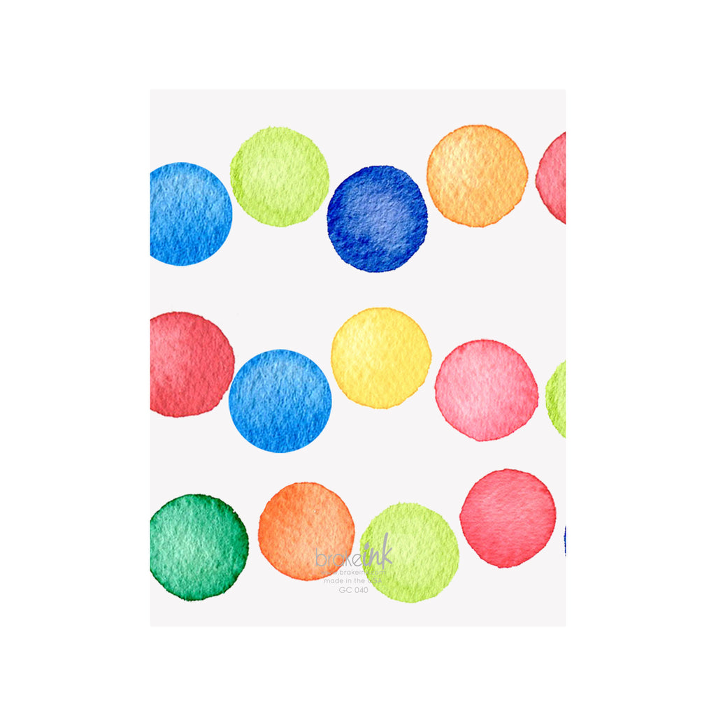 Confetti Dots Happy Birthday Card