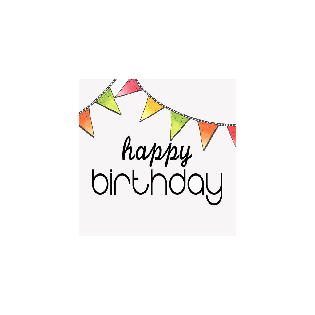 Birthday Flags Gift Tag