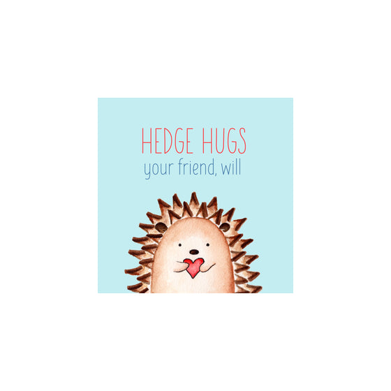 Personalized Hedgehog Valentine Gift Tags & Stickers