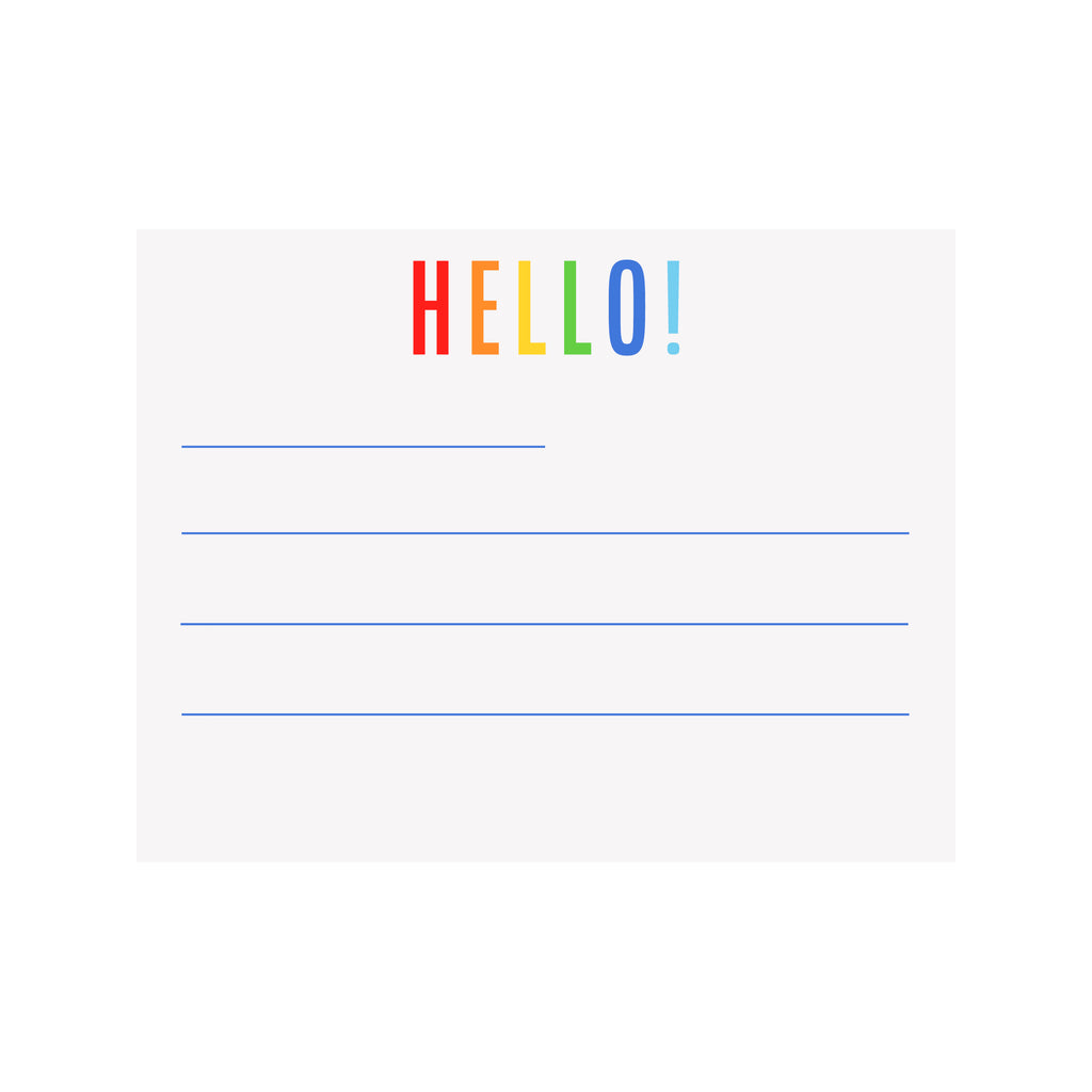 Pre-lined Notecards- Red/Blue