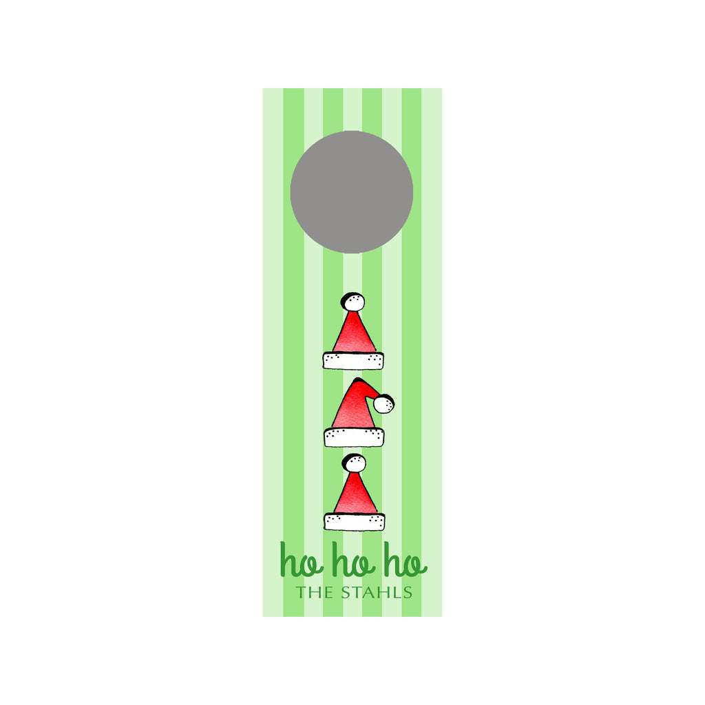Ho Ho Hats Personalized Wine Tag