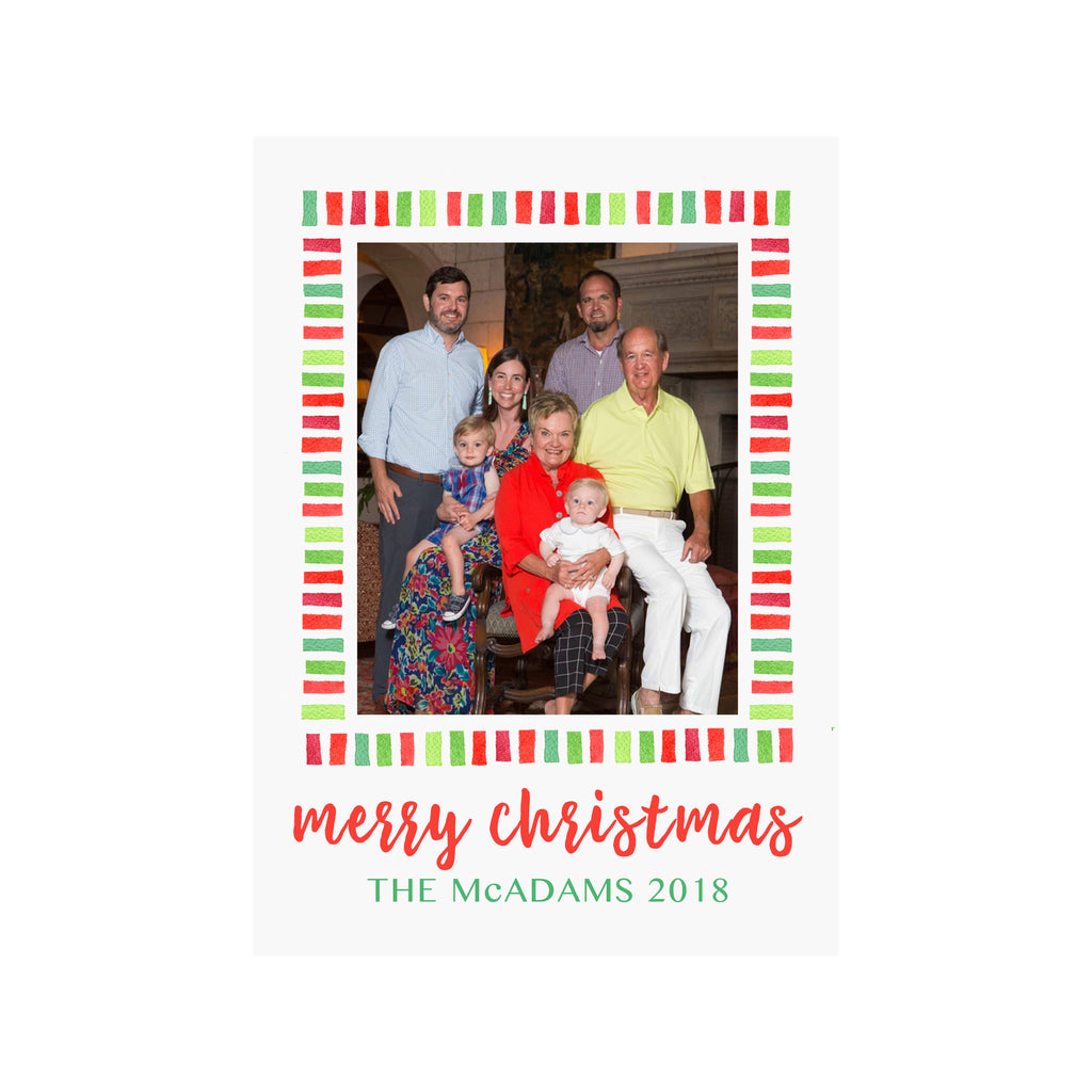 Holiday Stripes Photo Cards