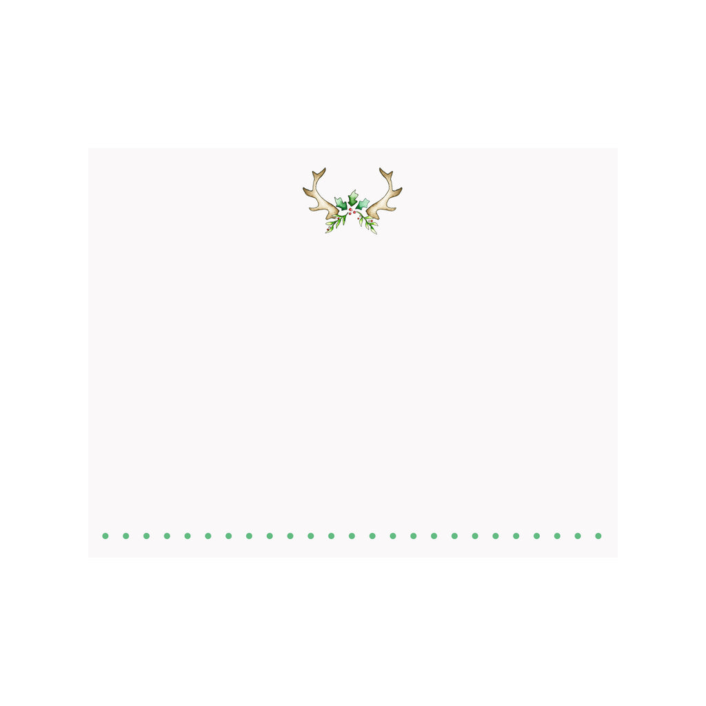 Antler Holly Note Card