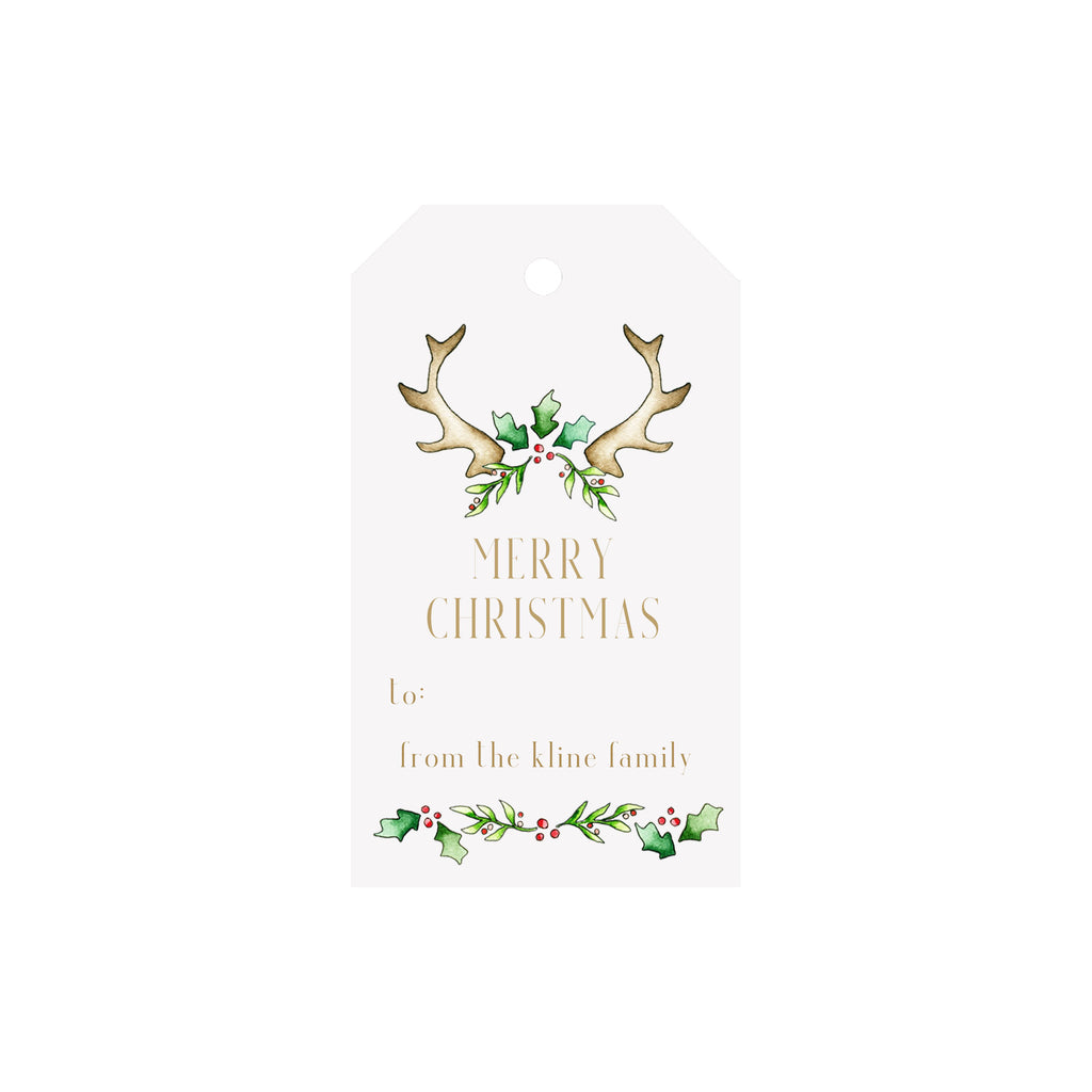 Antler Holly Personalized Luggage Gift Tags