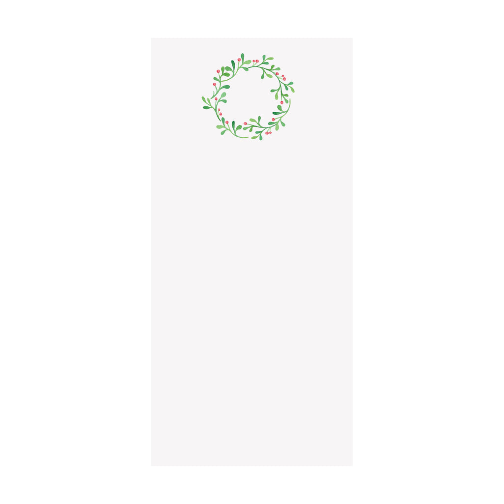 Holly Berries Wreath Notepad