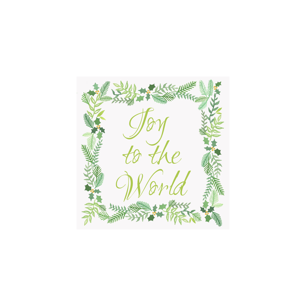 Joy to the World Garland Tag