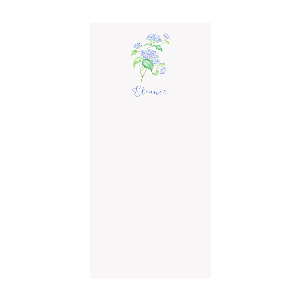 Hydrangea Branch Notepad- Personalized