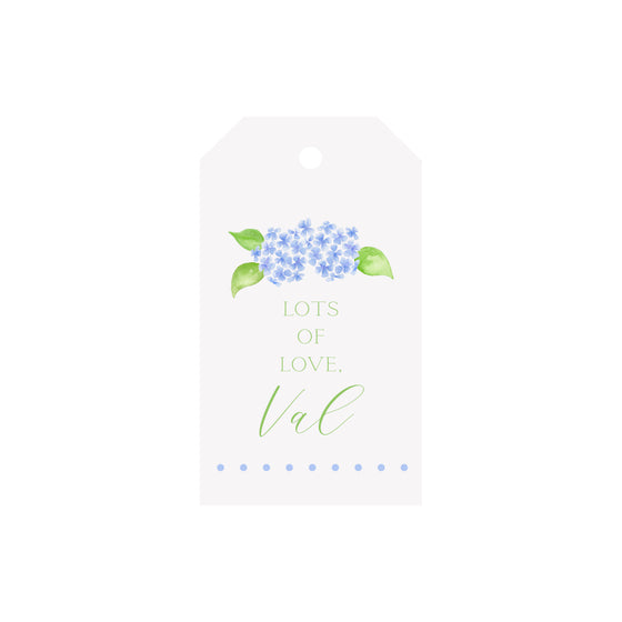 Hydrangea Personalized Luggage Gift Tags