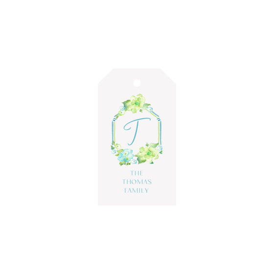 Hydrangeas Personalized Luggage Gift Tags