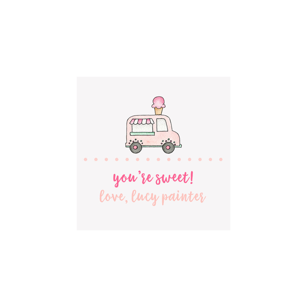 Ice Cream Truck Gift Tags & Stickers