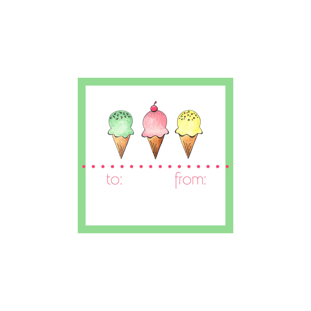 Ice Cream Gift Tag