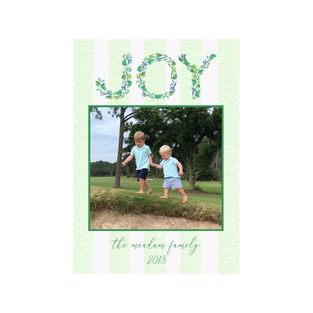 Joy Stripes Holiday Photo Cards