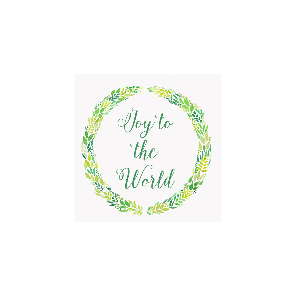 Holly Wreath Gift Tag