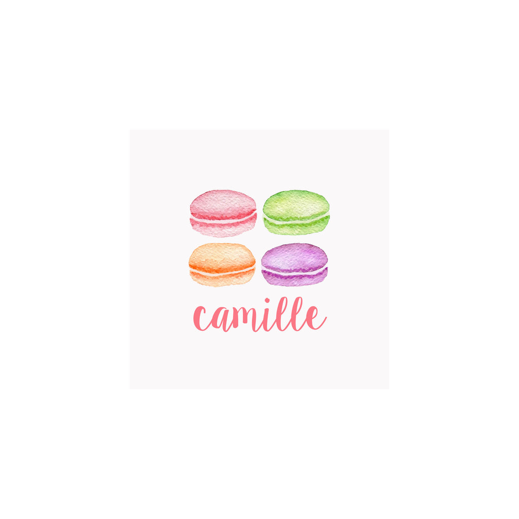 Macarons Gift Tags & Stickers