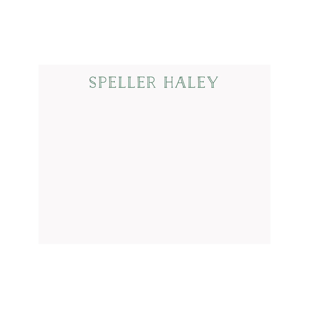 Personalized Name Stationery- Double Line