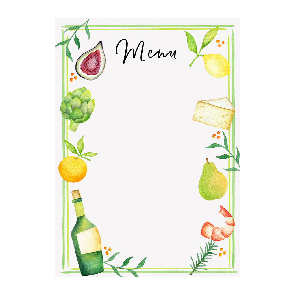 Party Paper - Menu Sign