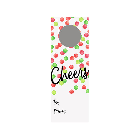 Holiday Dots Wine Tag