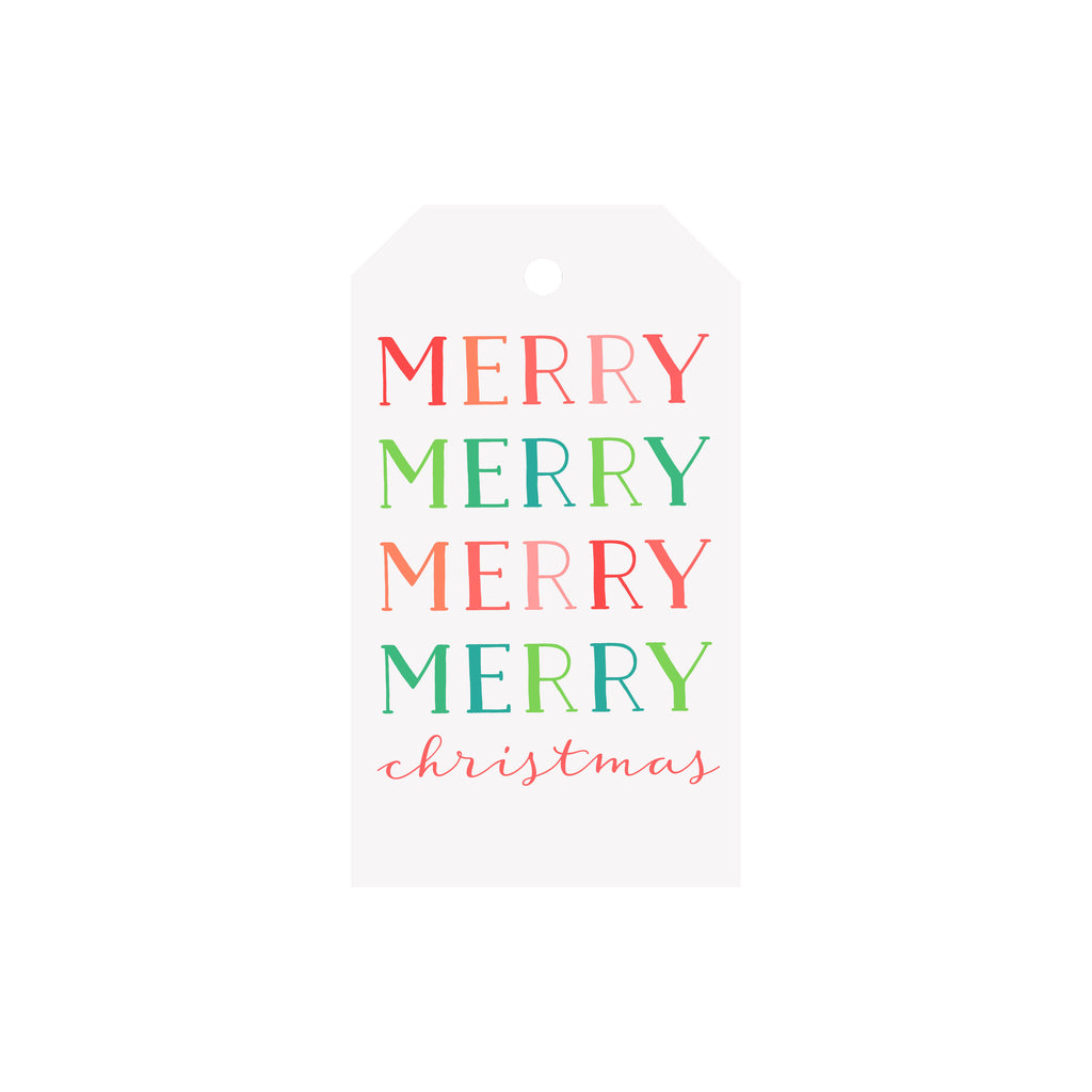Merry Merry Colorblock Luggage Gift Tags