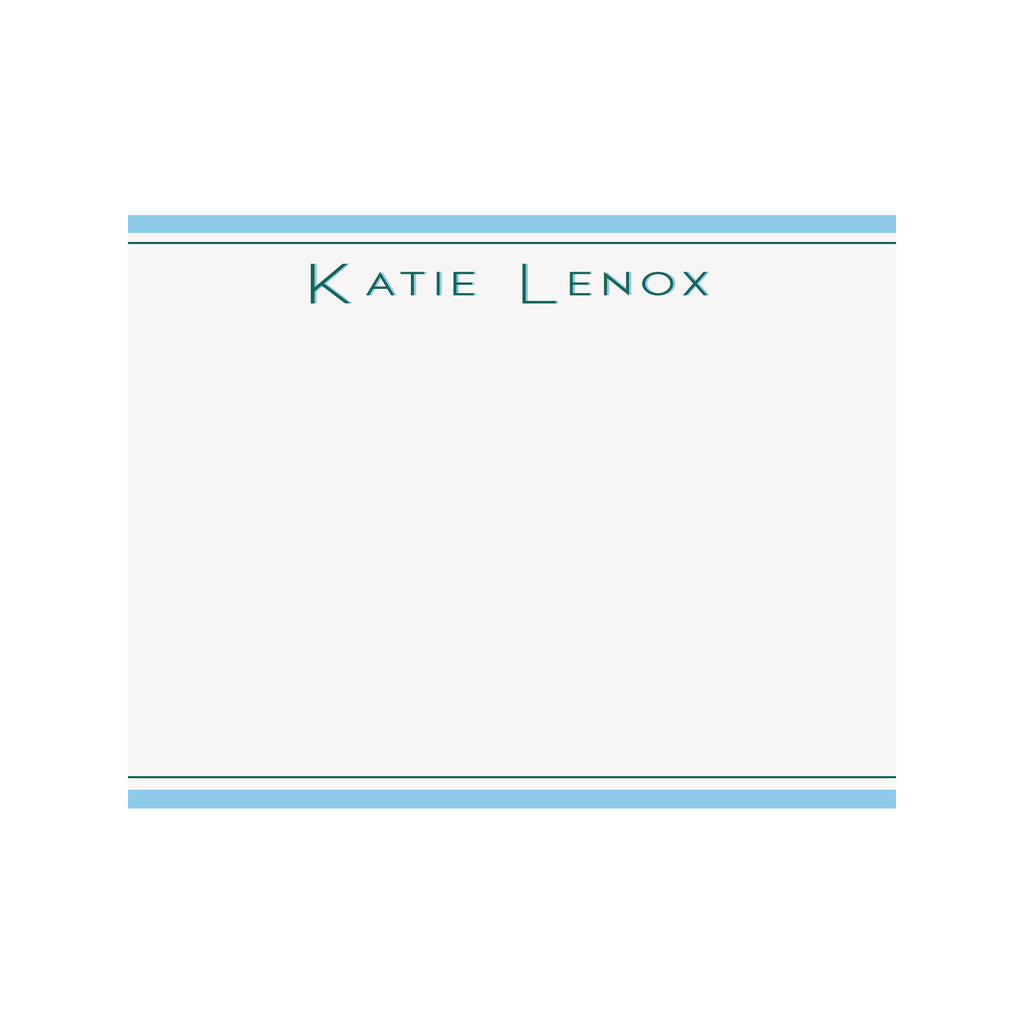 Name Stationery- School Colors