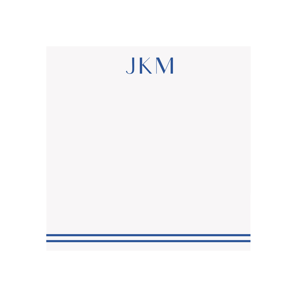 Personalized Monogram Notepad- Assorted Colors