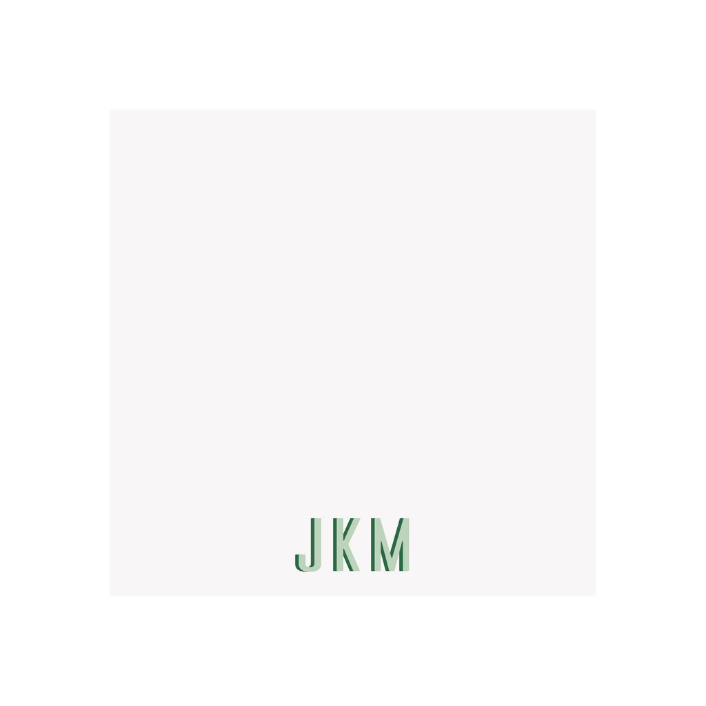 Personalized Two Tone Monogram Notepad- Assorted Colors