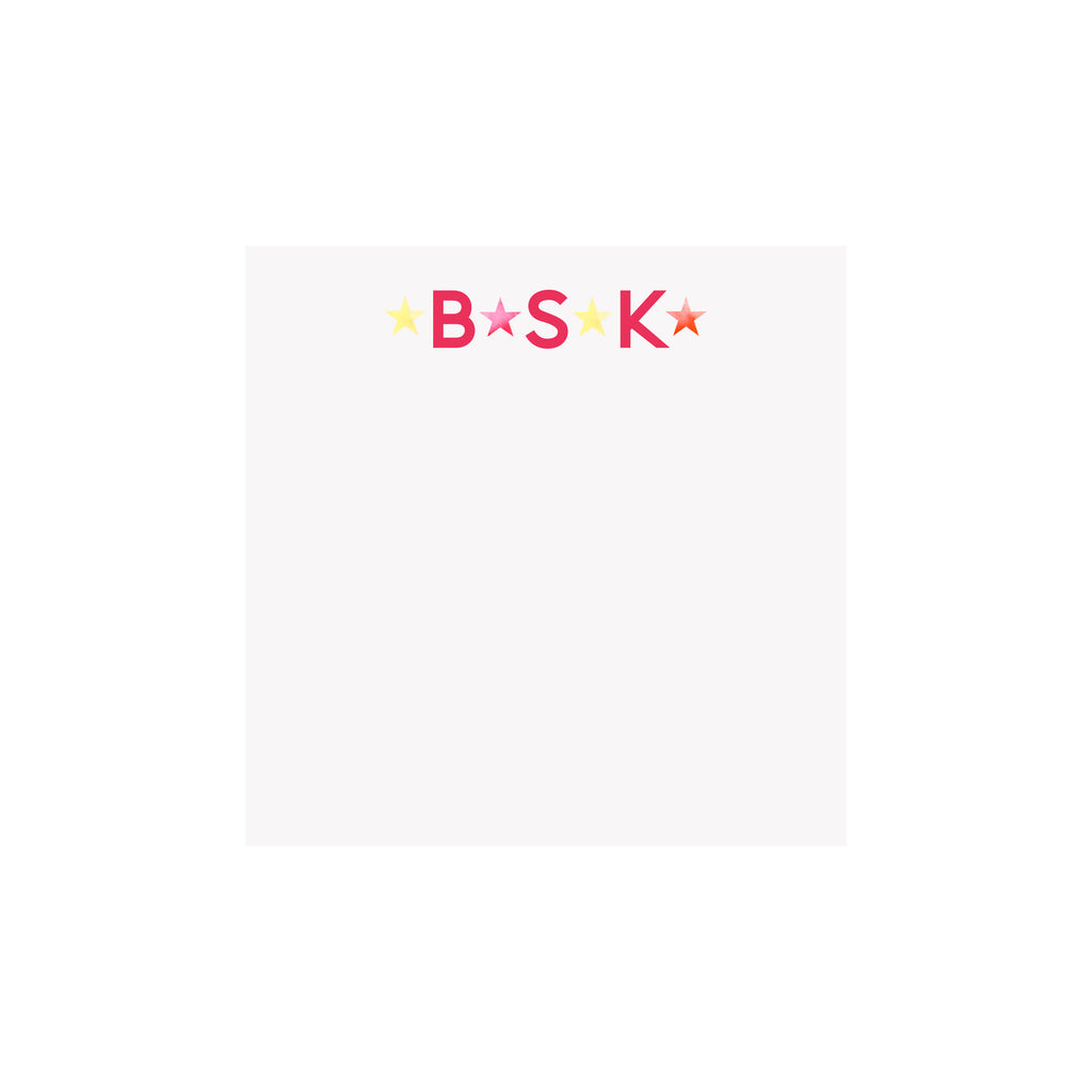 Bright Stars Monogram Notepad- Personalized