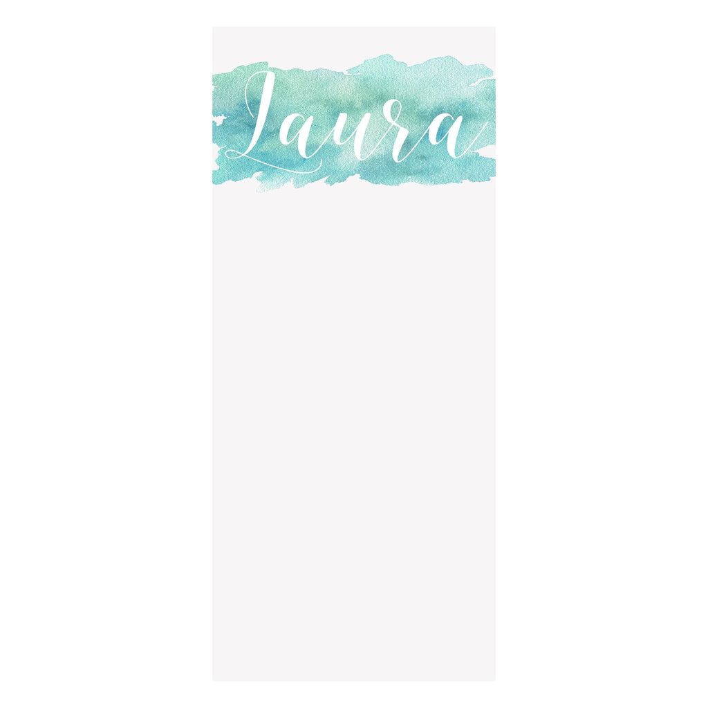 Watercolor Splash Notepad- Aqua