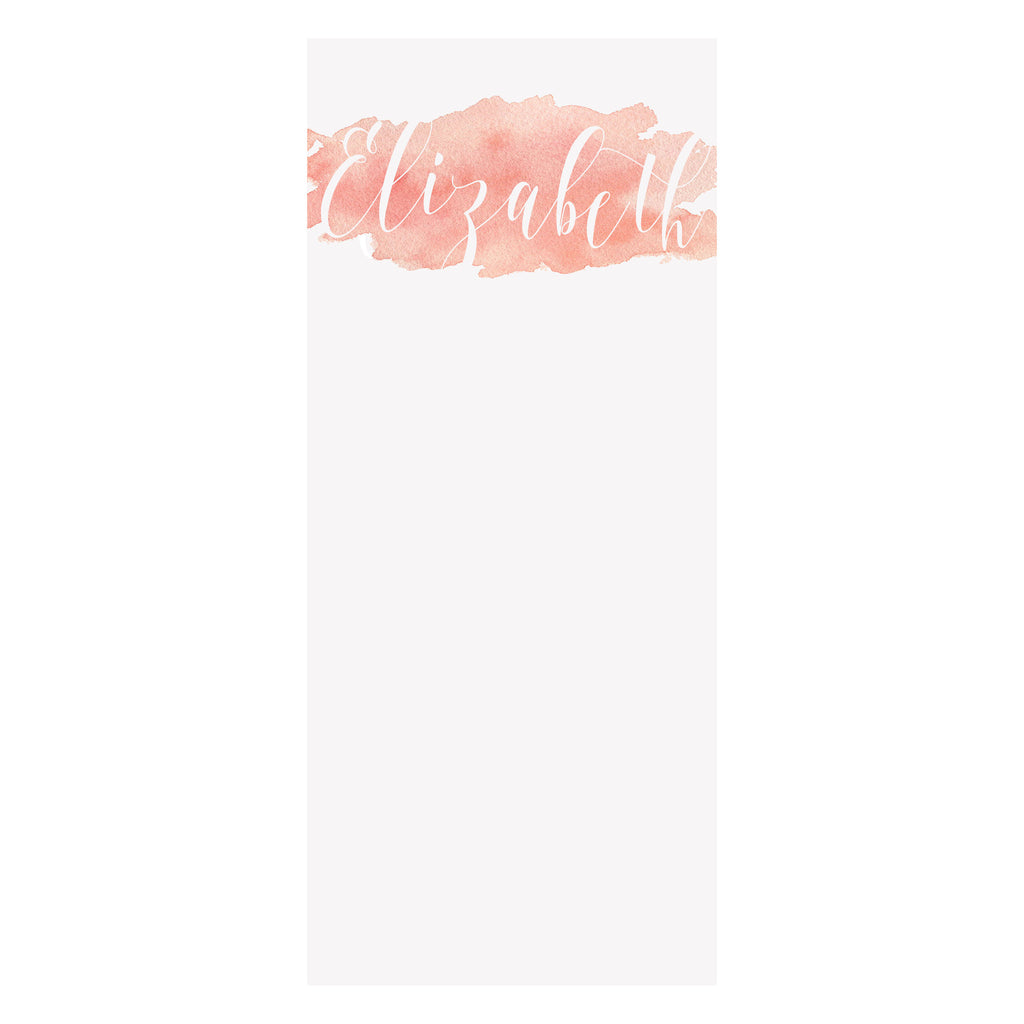 Watercolor Splash Notepad- Rose