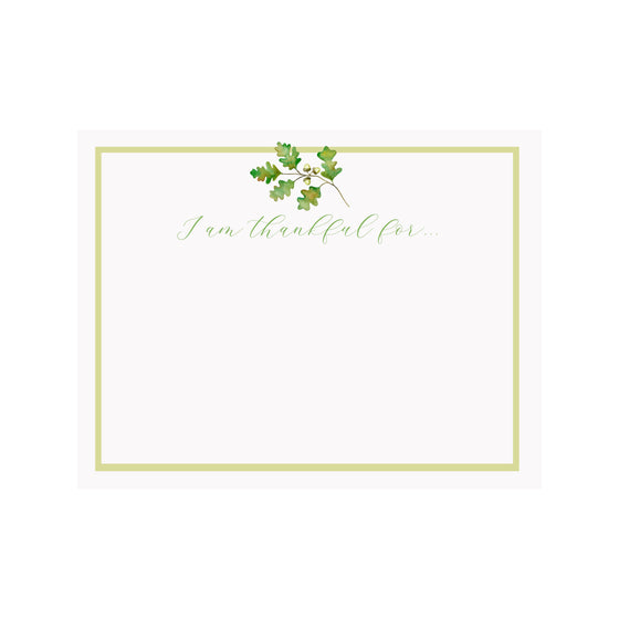 Oak Leaf Thankful Note Card