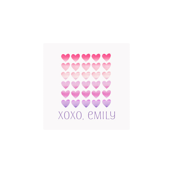 Ombre Hearts Gift Tags & Stickers