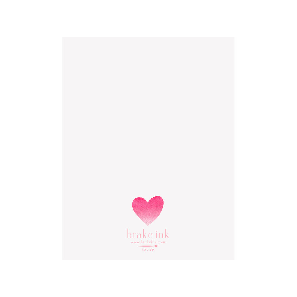 Ombre Hearts Card