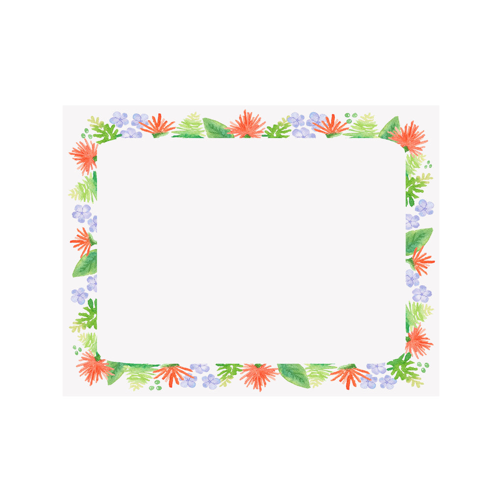 Orange Flame Border Note Card