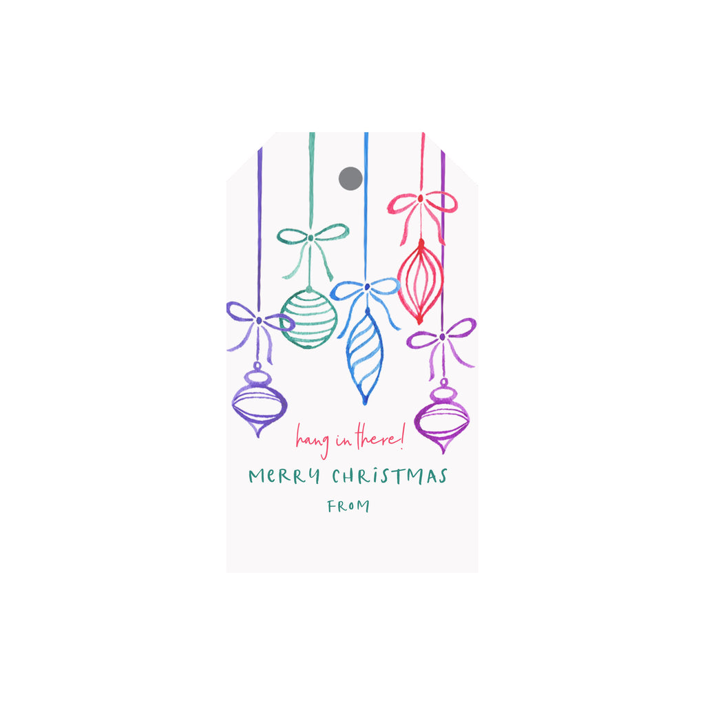 """Hang in There"" Ornaments Luggage Gift Tags"