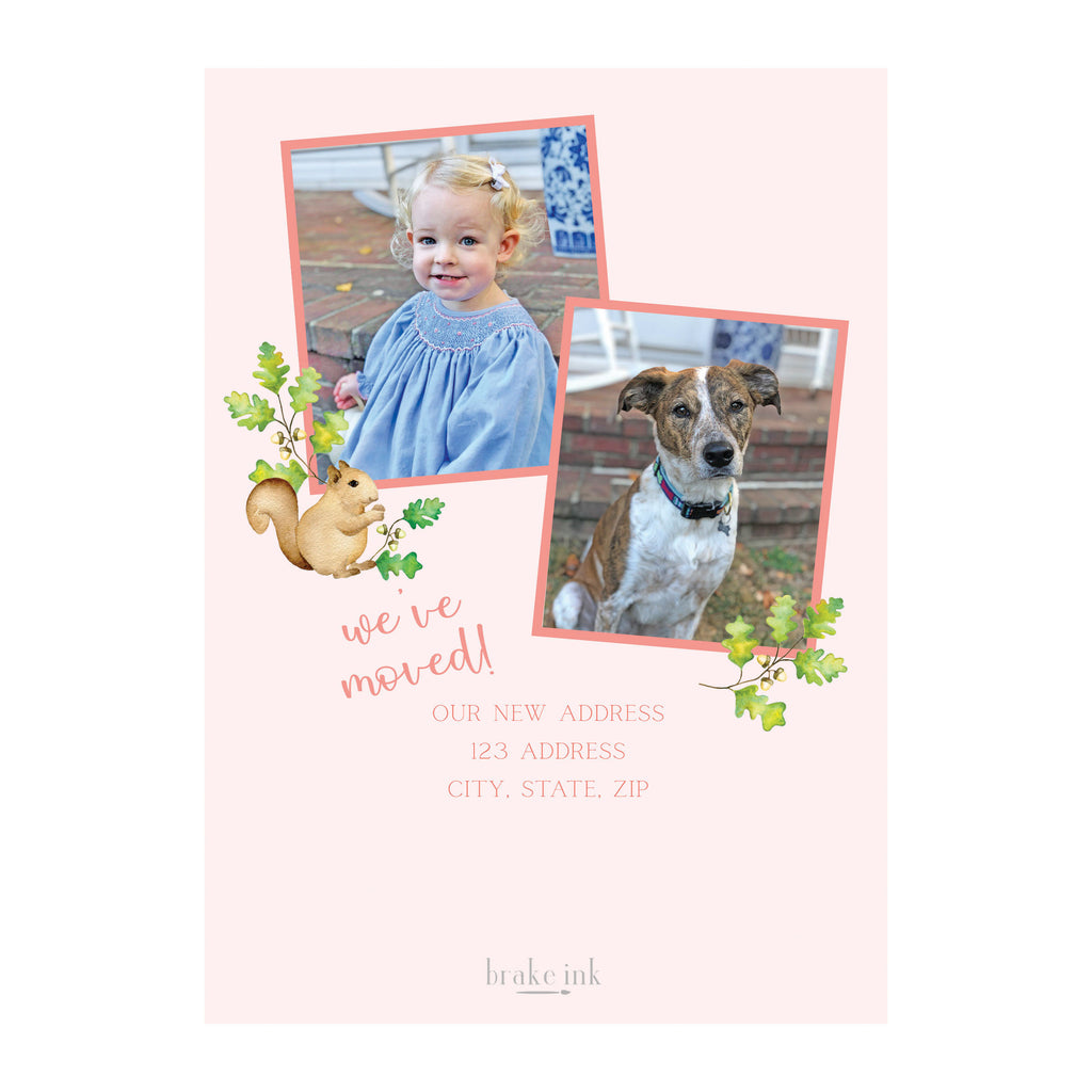 Pink Oak Holiday Photo Cards