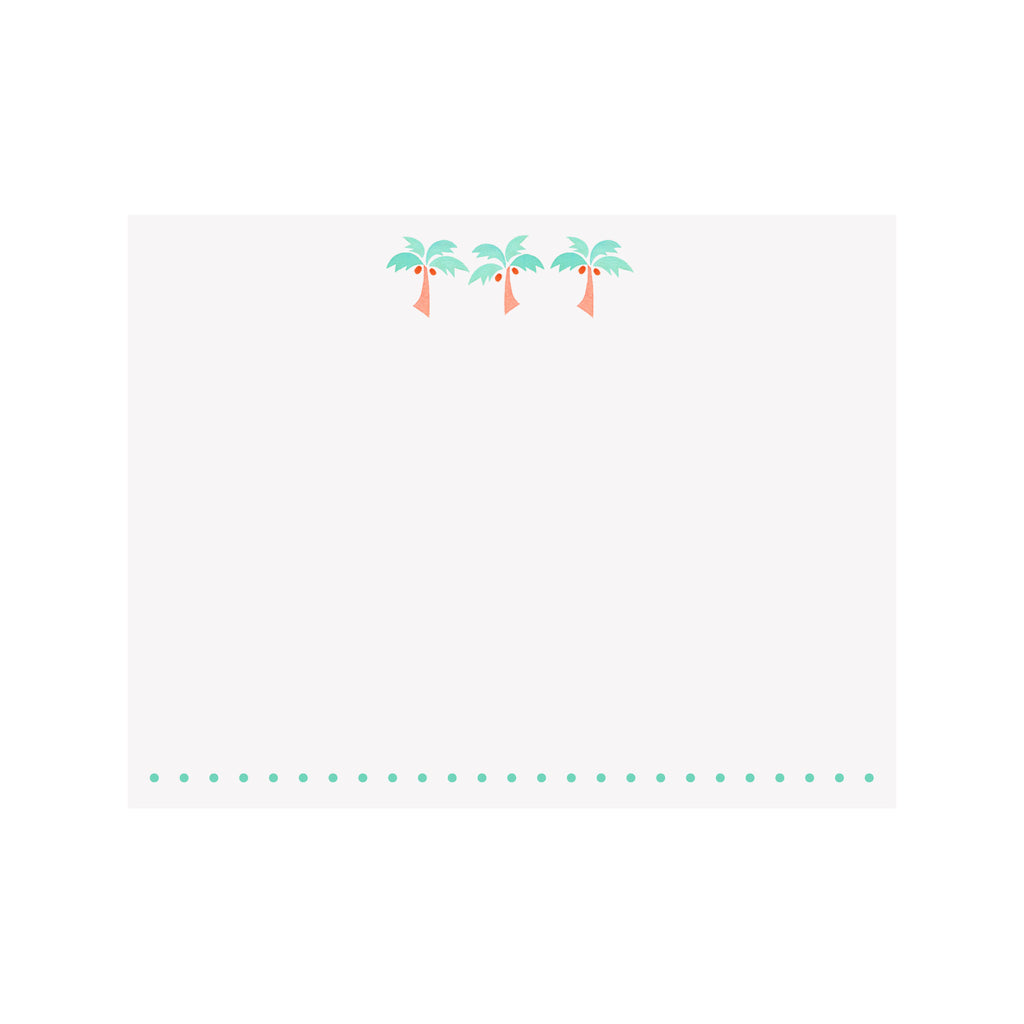 Palm Trees Note Card
