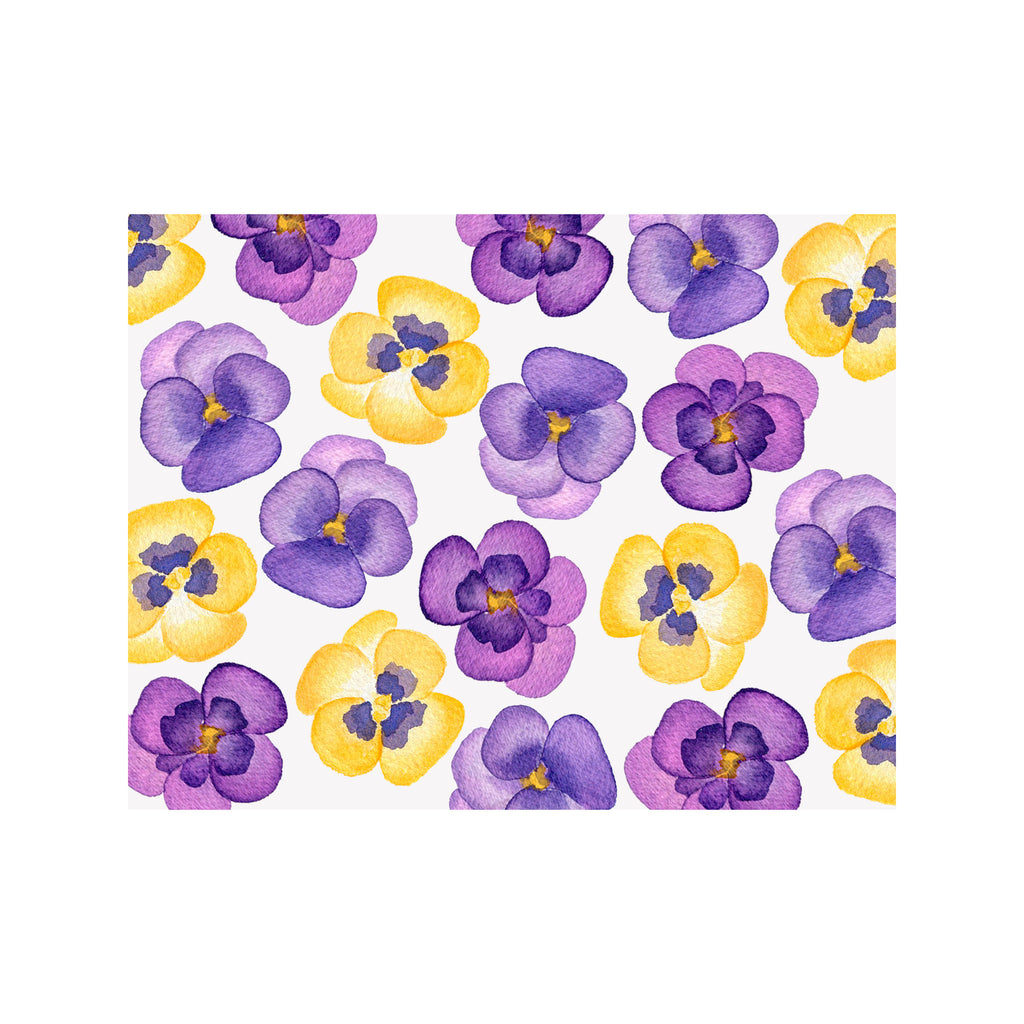 Yellow Pansy Note Cards