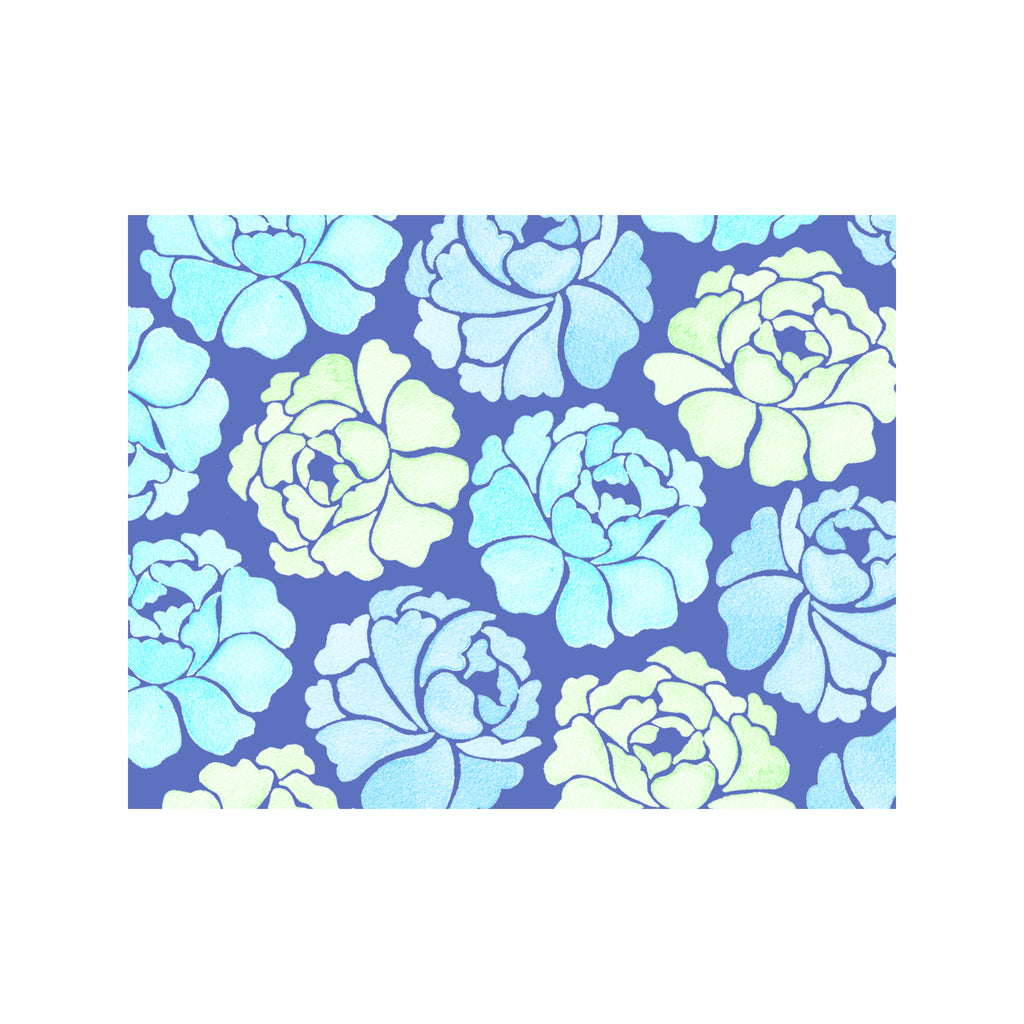 Blue Garden Note Cards
