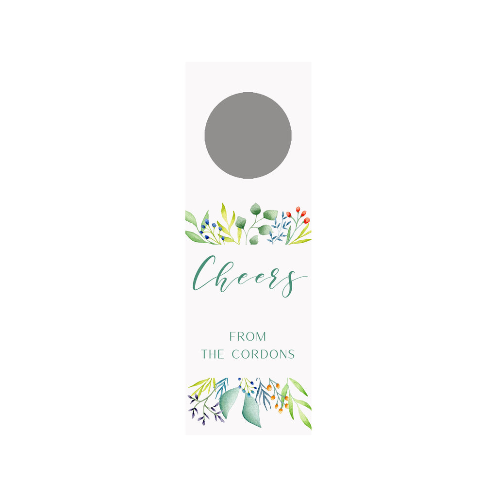 Foliage Personalized Wine Tag