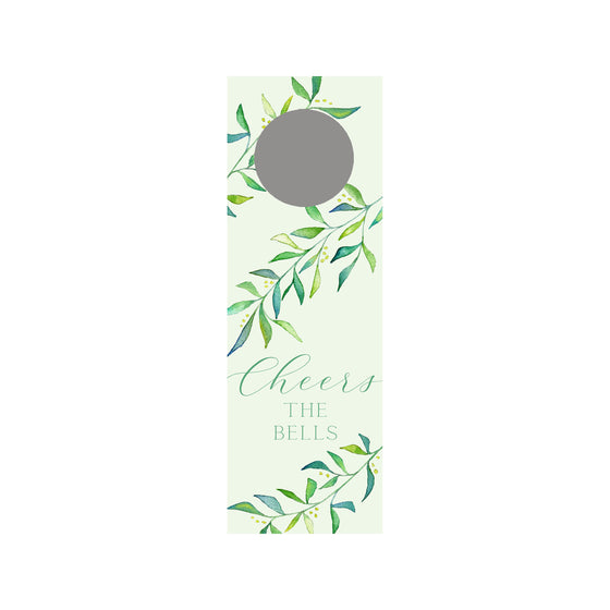 Holly Branch Personalized Wine Tag