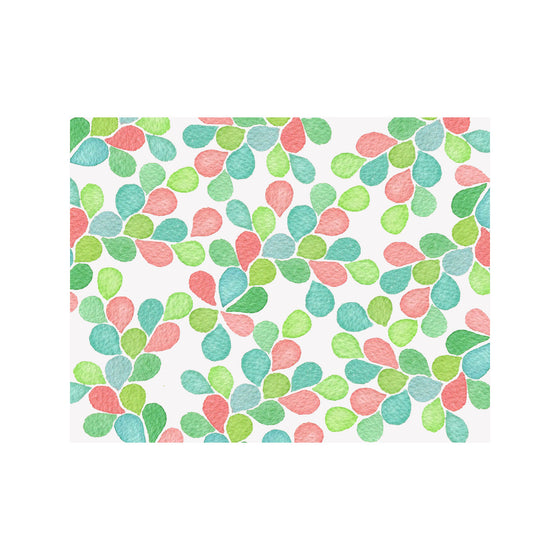 Petal Note Cards - Pink/Green