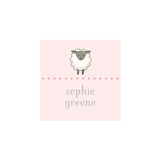 Sheep Gift Tags & Stickers - Pink