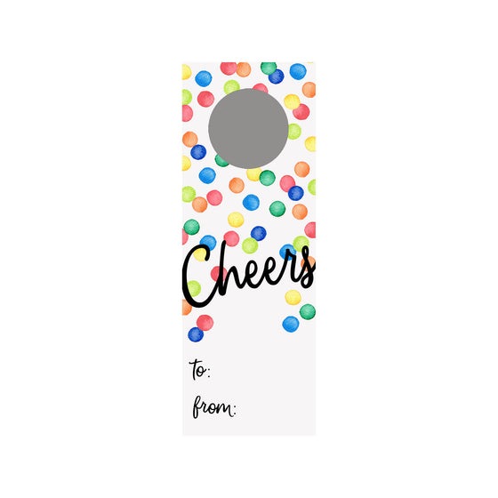 Confetti Dots Wine Tag